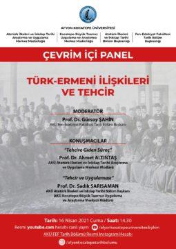 """""""Türk-Ermeni İlişkileri ve Tehcir"""" Konulu Çevrim İçi Panel"""